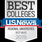 U.S. News & World Report Best Colleges Regional Universities Best Value 2019