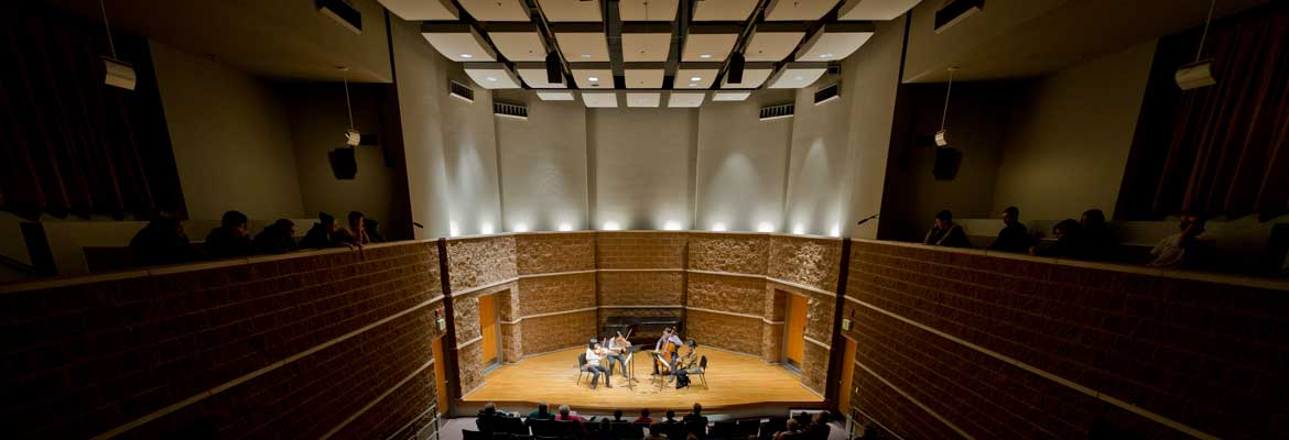 photo of musicians in recital hall