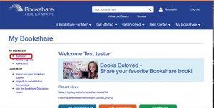 Bookshare Interface