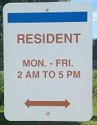 Resident Sign