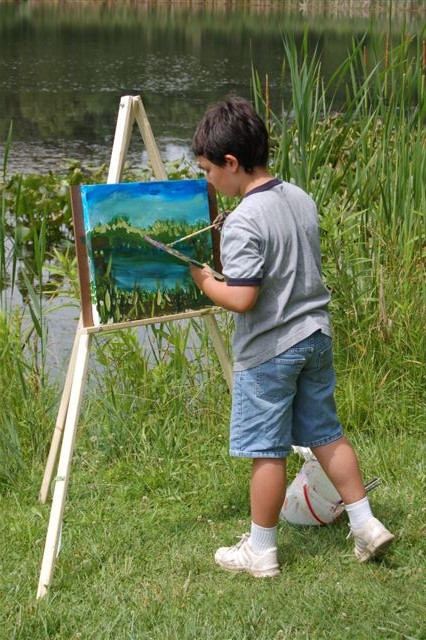Painting at Rogers Lakewood Park