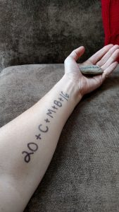 """Arm with """"20+C+M+B+16"""