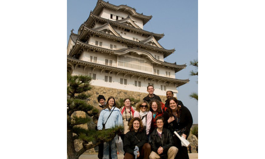 Himeji Japan group photo 3.6.08