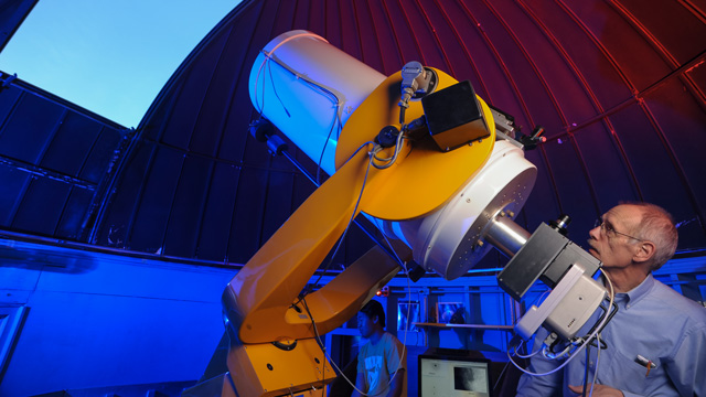Bruce Hrivnak with telescope