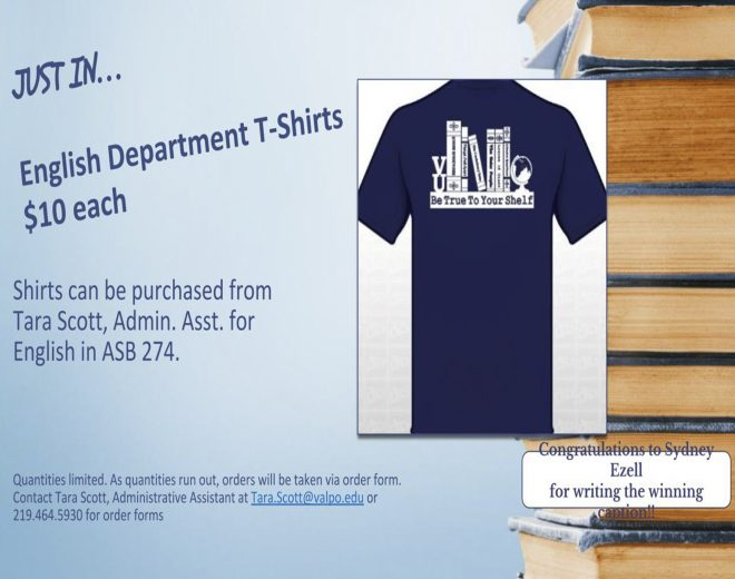 Get Your English Department T-Shirt