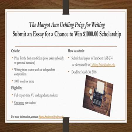 Uehling Prize Essay Contest: Deadline, March 30