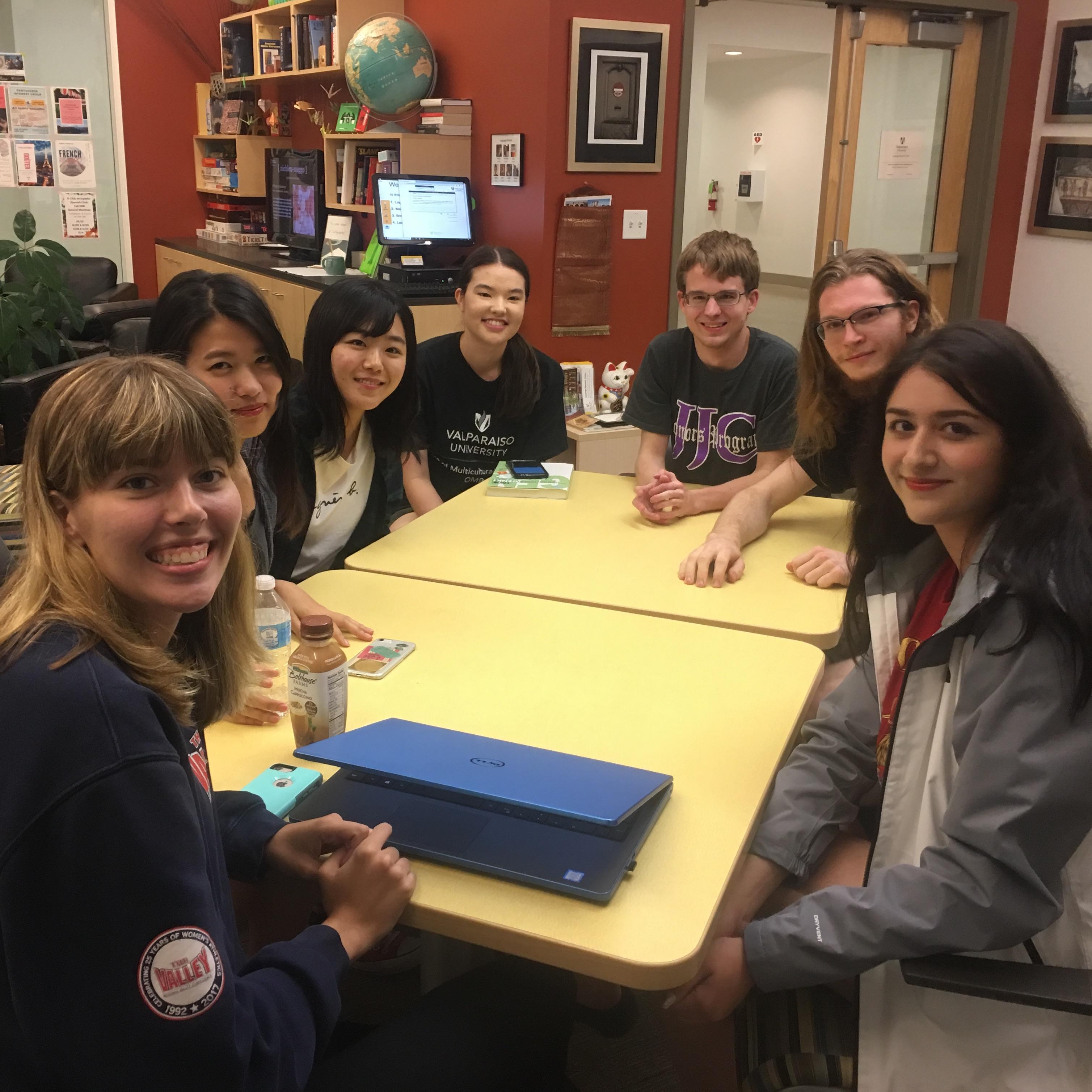 Students Practicing Language