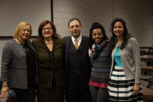 Wanda Akin and Raymond Brown with faculty and students