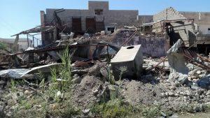 Bombed home Anbar Province, Iraq.