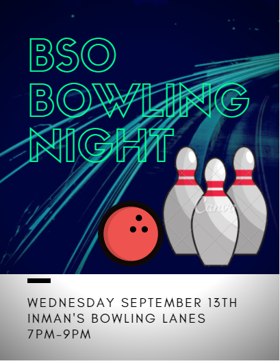 BSO Bowling Event Flyer