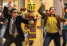 Valpo Students Organize Flash Mob In Library