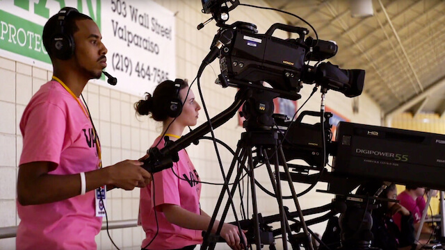 Big-Time Air Time: Valpo Students Get Unrivaled Experience In Sports Broadcasting On ESPN
