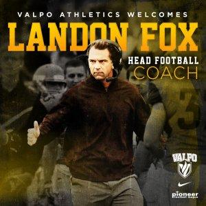 Valpo Athletics Welcomes Landon Fox Head Football Coach