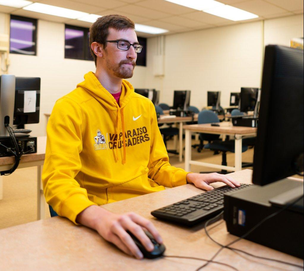 Computer science major Cody Packer