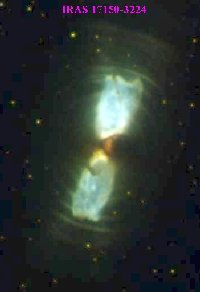 A Hubble Space Telescope image of a proto-planetary nebula