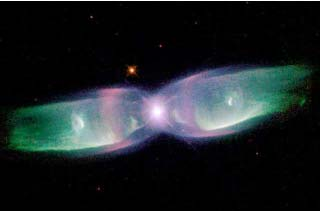 A Hubble Space Telescope image of a planetary nebula