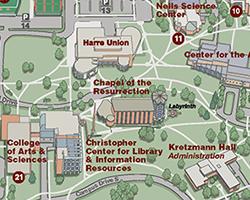Valparaiso Campus Map.Contact Pre Med Program