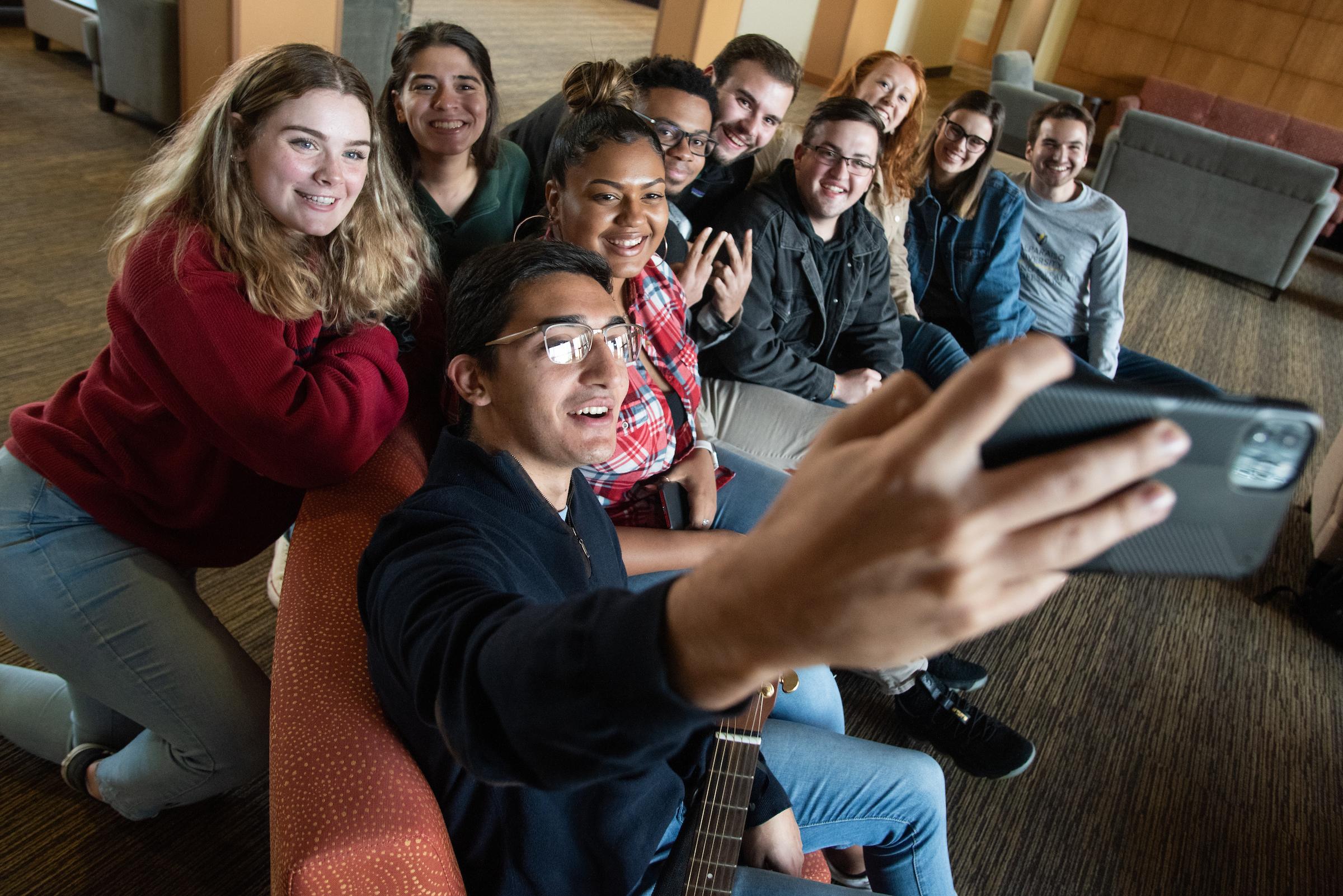 Residence Hall Group selfie
