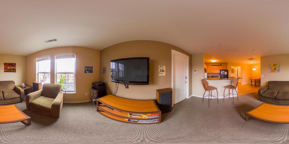 Uptown Living Room Panoramic
