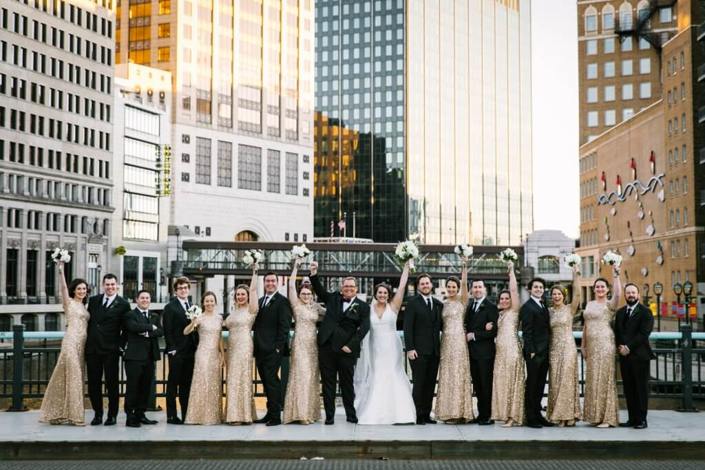 "Brynn Horne '09 married Joseph ""Jed"" Edmund Hadley III in Milwaukee on Nov. 25, 2017. Katie Brennan '09 Kuehn was her matron of honor and Reva Johnson '09 was a bridesmaid."