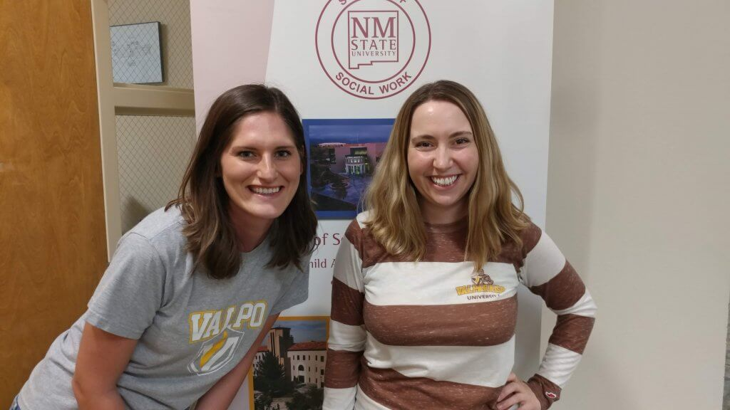Stacy Gherardi '01, assistant professor of social work at New Mexico State University, was recently assigned fellow Valpo grad Bethany Garling '14 as her graduate assistant.