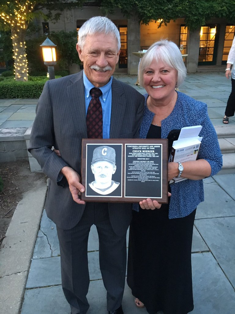Chuck Boerger '69 was inducted into Concordia University's Athletic Hall of Fame in June 2017 in recognition of his contributions as the head basketball and baseball coach.