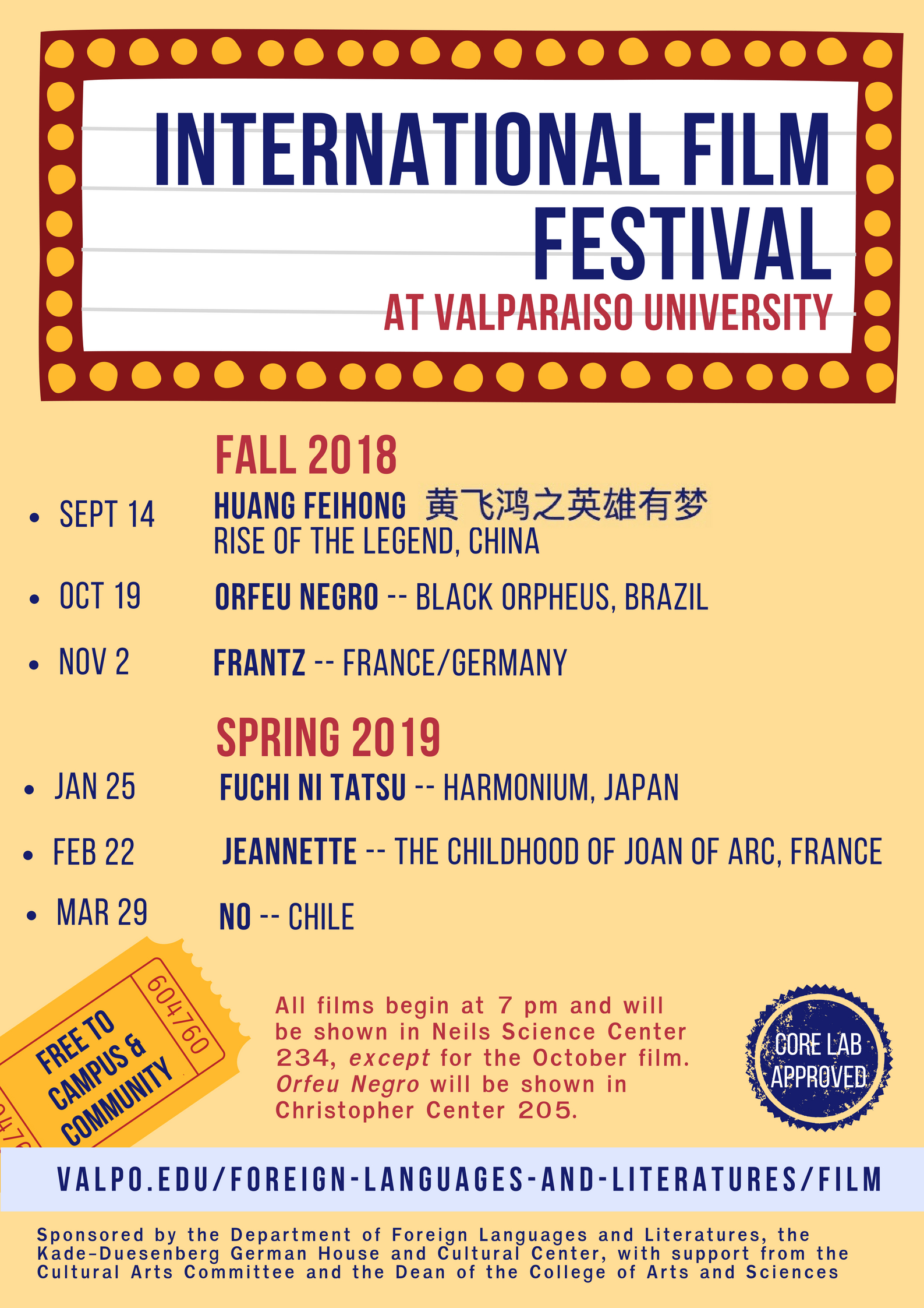 International Film Festival 2018-2019   World Languages and Cultures
