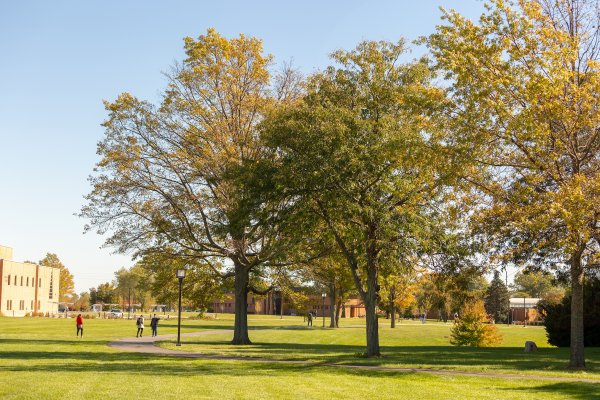 Fall scene of Valpo's campus