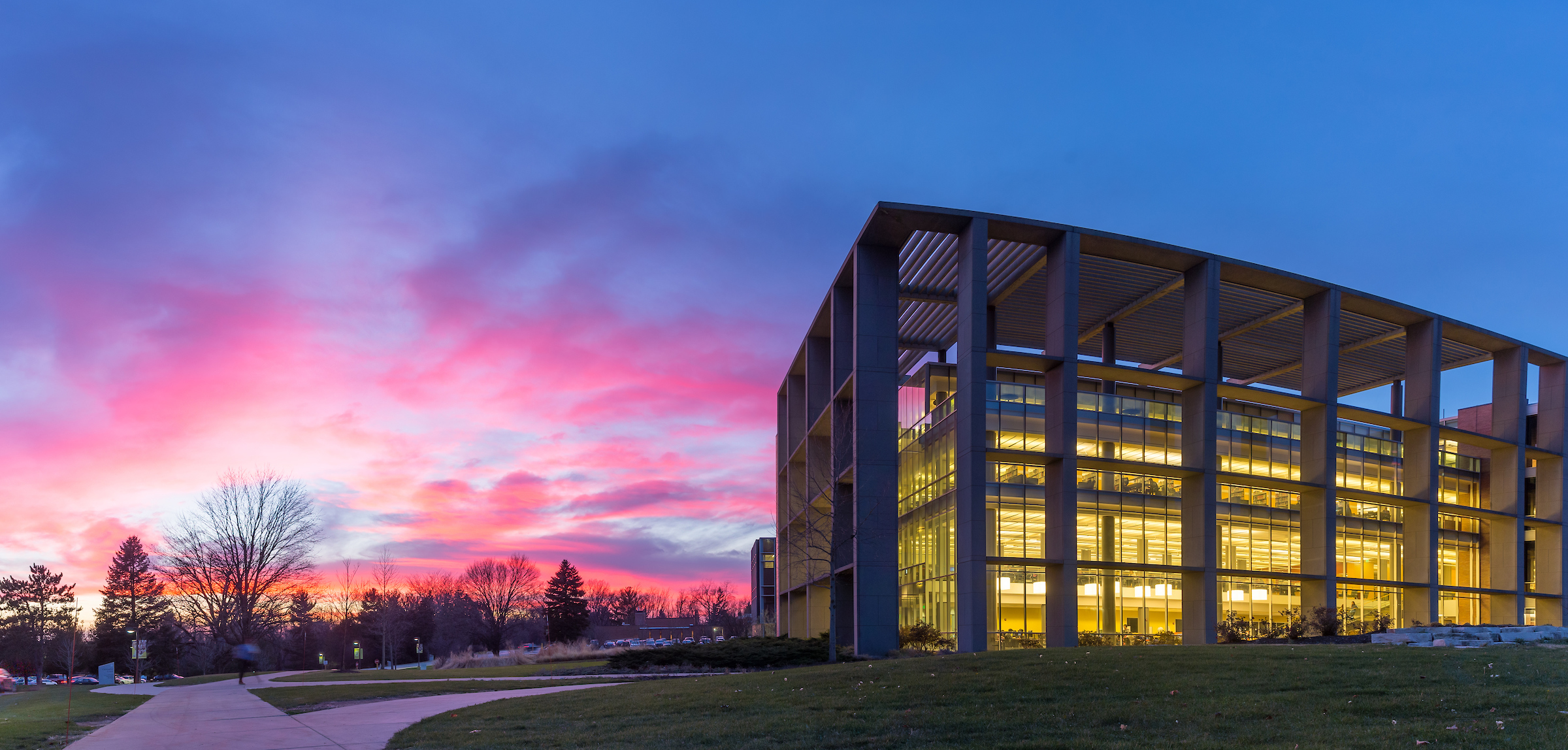 Library at Sunset